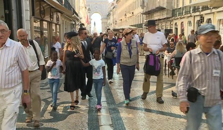 Encontrámos a Madonna na Baixa de Lisboa!