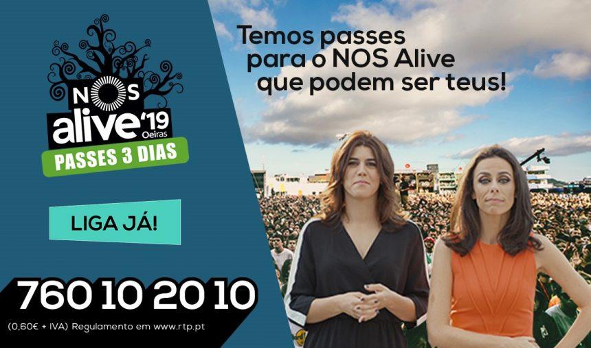 PASSATEMPO RTP – BILHETES NOS ALIVE 2019