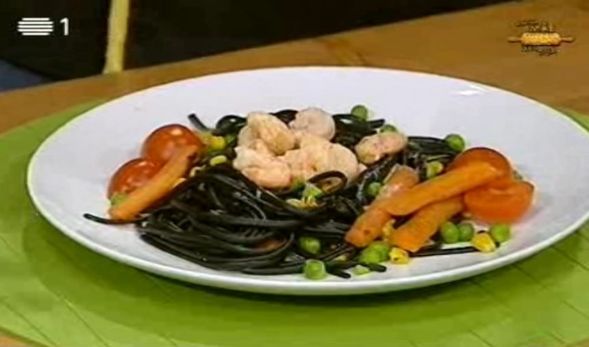 Esparguete Nero com Camarão