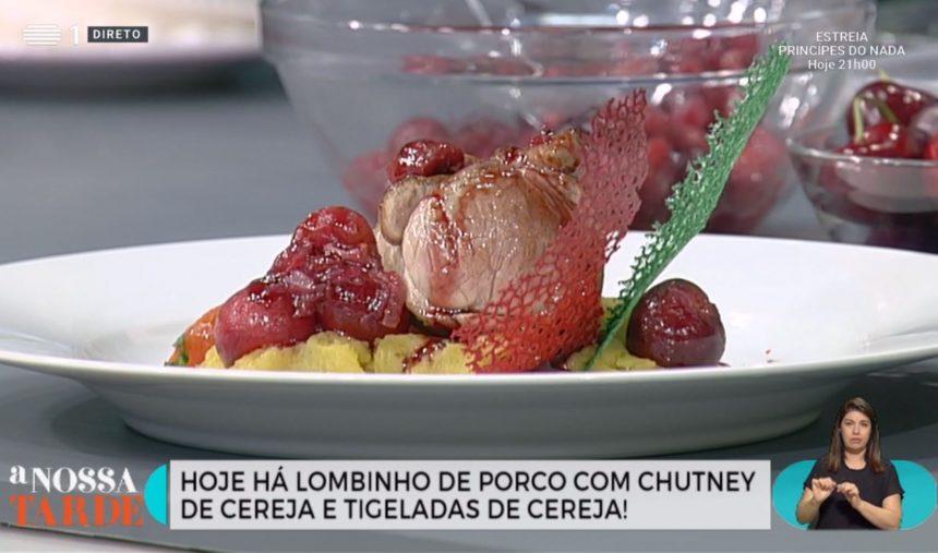 Receita: Lombinho de Porco com Chutney de Cereja e Esmagada de Batata doce