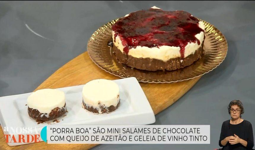 Nuno Dionísio e Ana Primavera - Receita dos Mini Salames de Chocolate com Queijo de Azeitão e Geleia de Vinho Tinto