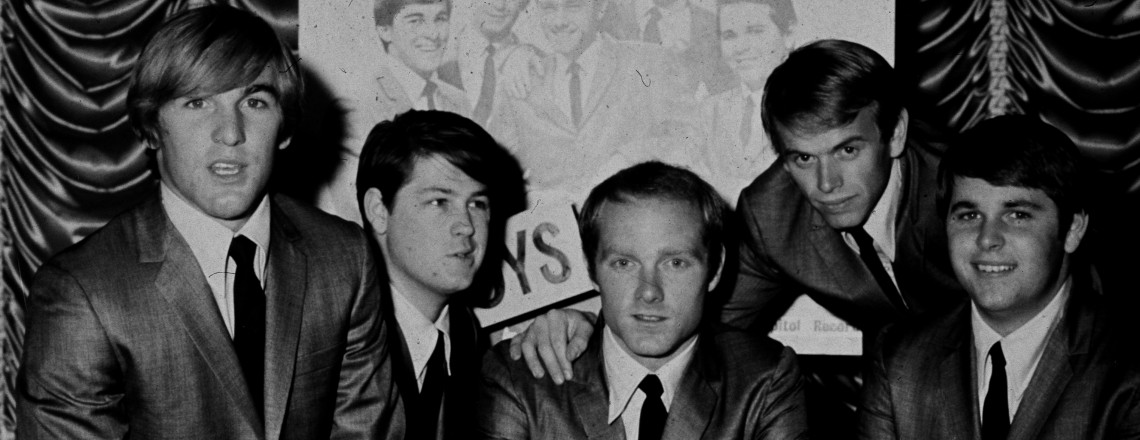 2nd November 1964:  American pop group The Beach Boys in 1964. From left to right, Dennis Wilson (1944 - 1983), Brian Wilson, Mike Love, Al Jardine and Carl Wilson (1946 - 1998)  (Photo by Hulton Archive/Getty Images)