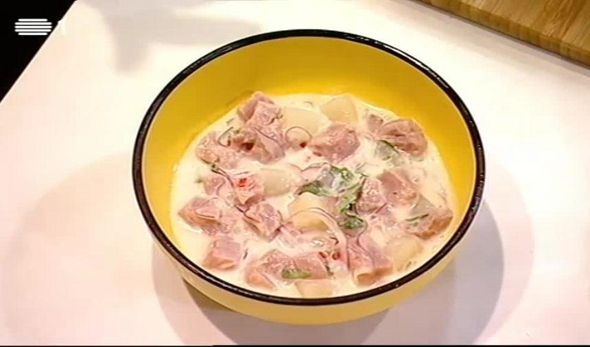 Ceviche de atum com leite de coco, por Chef Kiko