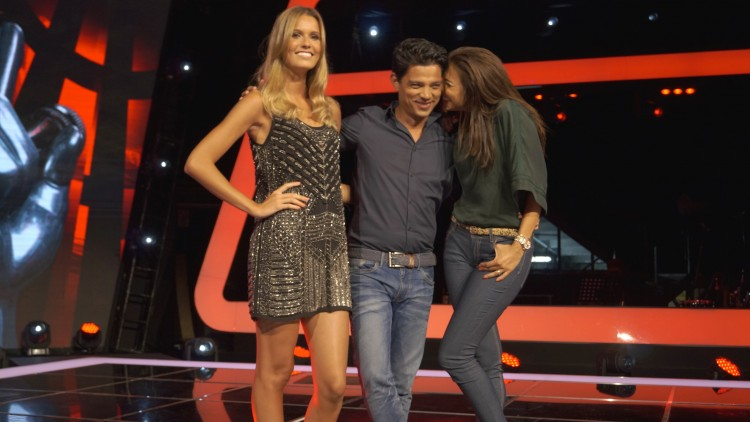 Catarina Furtado, Vasco Palmeirim e Jani Gabirel no The Voice Portugal