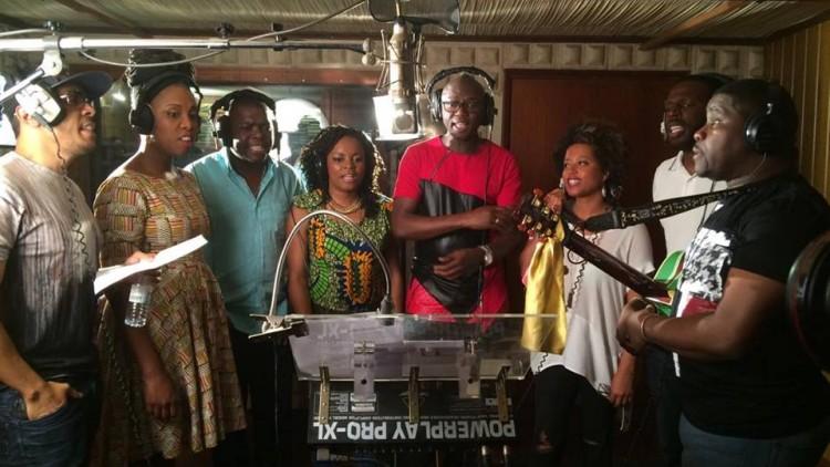 Gravação do hino da RTP África
