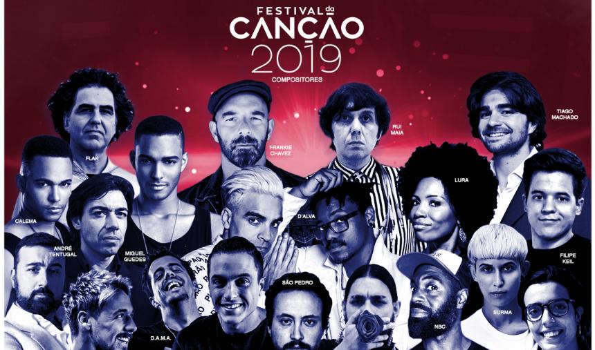 São estes os 16 compositores do Festival da Canção 2019