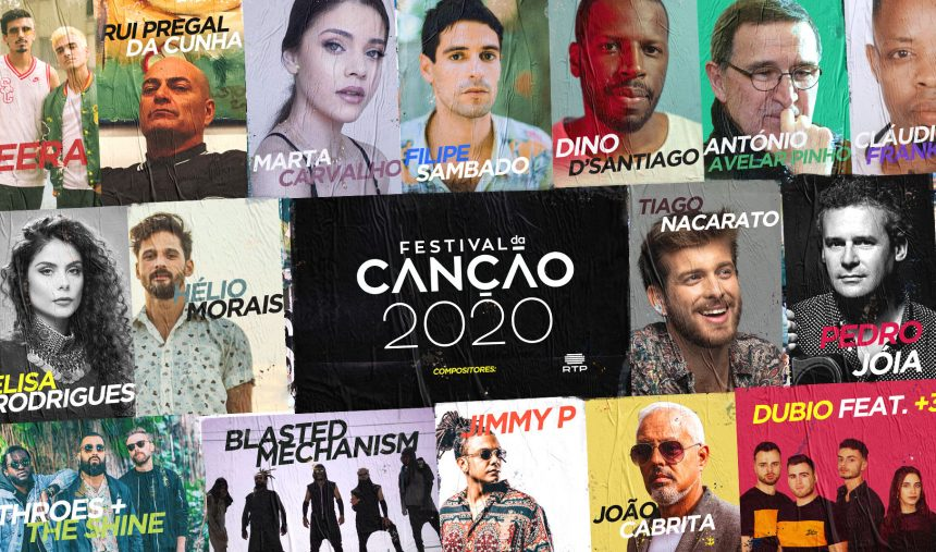 São estes os compositores do Festival da Canção 2020