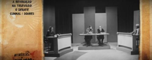O debate político está a ser televisionado