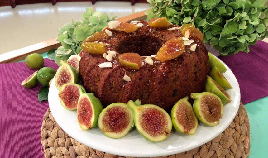 Bolo de Figos com Amêndoa e Nozes - Culinária