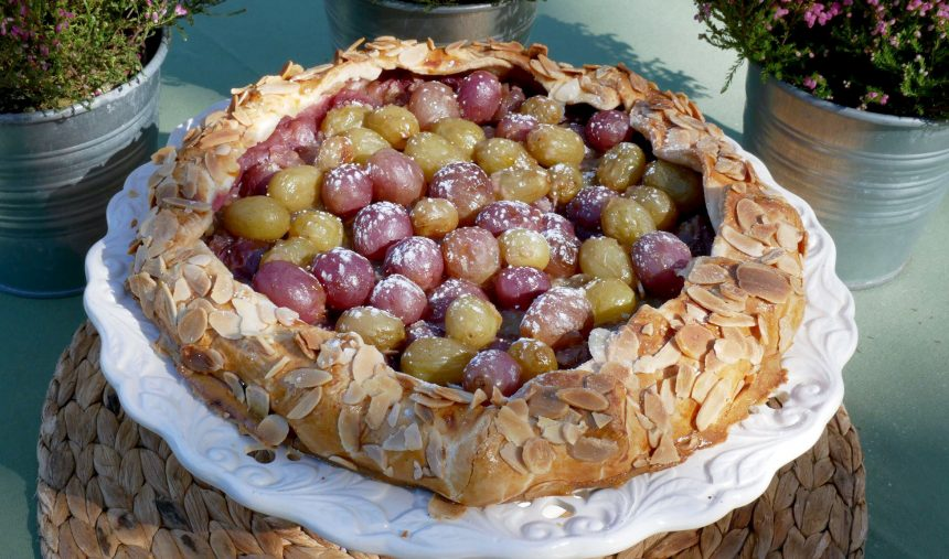 Galette de uvas e amêndoas - Culinária