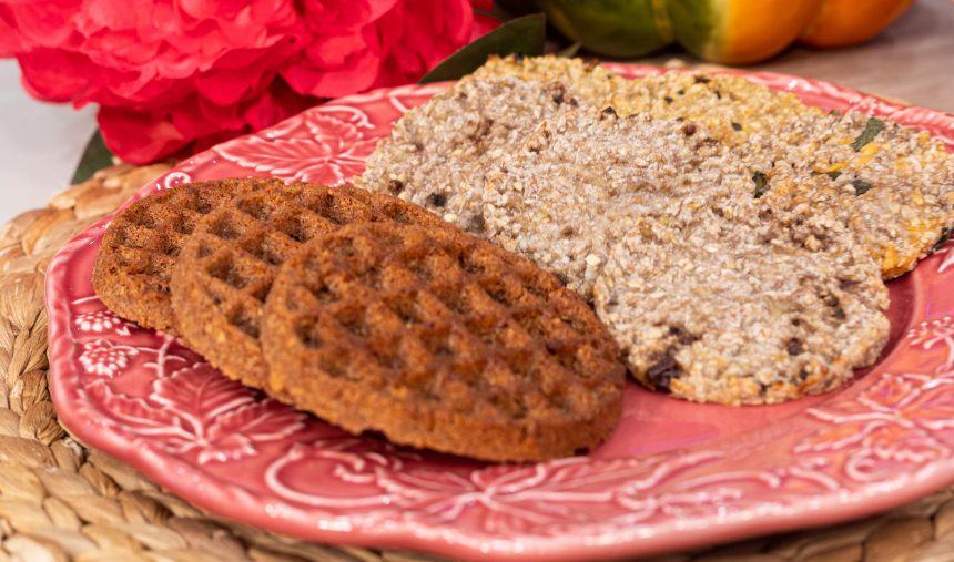 Healthy Snack Time com a receita: Panquecas saudáveis no forno