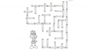 Encontra a saída do labirinto - Vicky