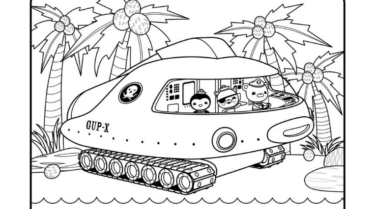 octonauts gup x coloring pages - photo#2