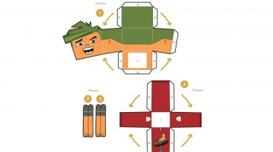 Constrói o boneco de papel do Carlos