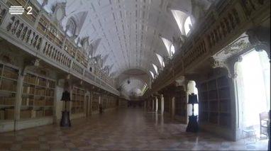 Repórter Mosca visita a Biblioteca do Palácio Nacional de Mafra
