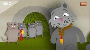 O gato que fingia ser um monge budista
